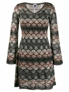 M Missoni lamé knitted midi dress - NEUTRALS