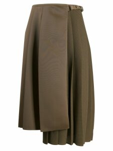 Fendi pleated wrap skirt - Brown