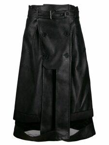 Maison Margiela deconstructed faux-leather skirt - Black