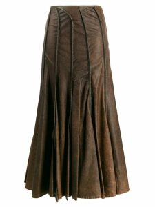 Y/Project seam detailed skirt - Brown