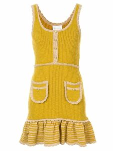 Alice McCall Heaven ribbed knit dress - Yellow