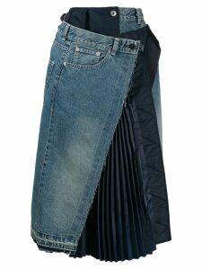 Sacai denim asymmetric skirt - Blue