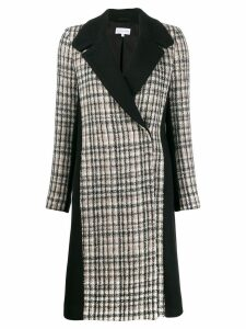 Patrizia Pepe plaid corduroy coat - Black