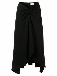 Dion Lee pierced drape midi skirt - Black