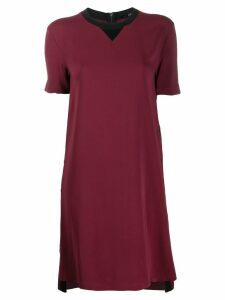 Karl Lagerfeld two-tone shift dress - Red