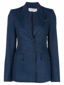 Gabriela Hearst check fitted blazer - Blue