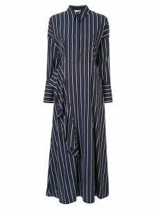 Layeur Ross Dolman striped shirt-dress - Blue