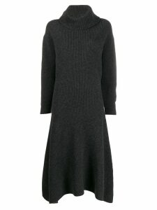 Pringle Of Scotland ribbed roll neck dress - Grey
