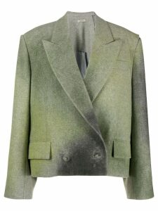 Nina Ricci Spray effect oversized boxy blazer - Green