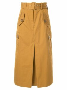 Zimmermann Espionage Army midi skirt - Yellow