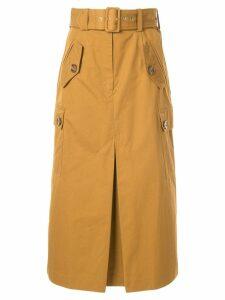 Zimmermann Espionage Army midi skirt - Yellow