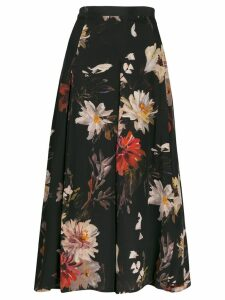 L'Autre Chose floral print flared skirt - Black