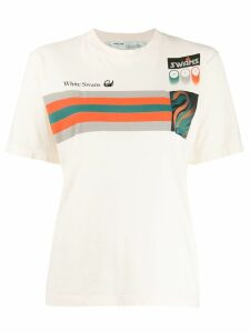 Off-White 'White Swan' patchwork T-shirt