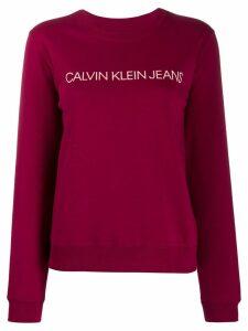 Calvin Klein logo print sweatshirt - PINK