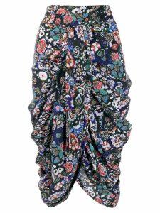 Isabel Marant draped front skirt - Black