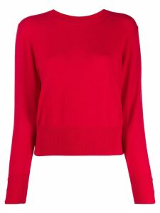 Edward Achour Paris back button cardigan - Red