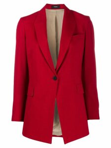 Theory long cutaway-front blazer - Red