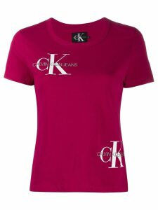 Calvin Klein embroidered logo T-shirt - Pink