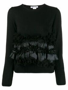 Comme Des Garçons Comme Des Garçons ruffle front sweater - Black