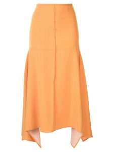 Ellery panelled midi skirt - Yellow