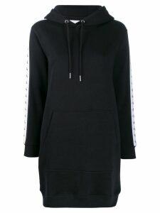 Calvin Klein logo strap appliqués hoodie dress - Black