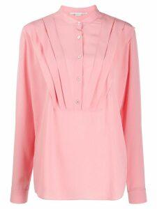 Stella McCartney tuck-detail long-sleeve blouse - Pink