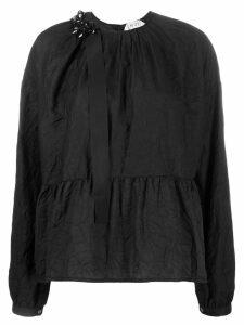 Nº21 creased peplum blouse - Black