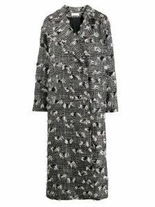 Faith Connexion textured check coat - Black