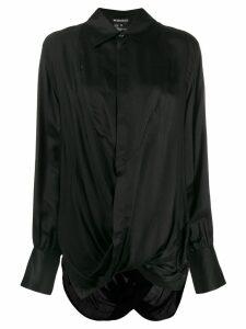 Ann Demeulemeester long sleeved draped blouse - Black