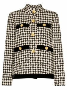 Gucci button-embellished houndstooth wool jacket - Multicolour