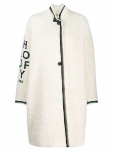 Philosophy Di Lorenzo Serafini long printed logo coat - White