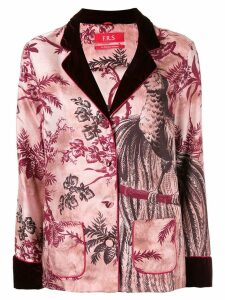 F.R.S For Restless Sleepers botanical print silk jacket - Red