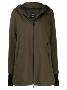 Herno zip-front parka coat - Green