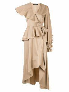 Rokh asymmetric trench-dress - Brown