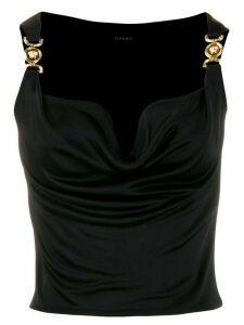 Versace Medusa cowl neck blouse - Black