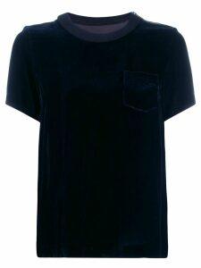 Sacai back pleated T-shirt - Black