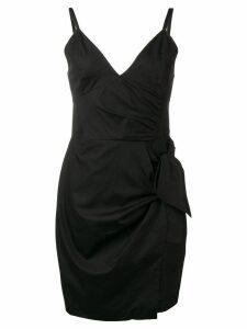 Victoria Victoria Beckham front tie dress - Black