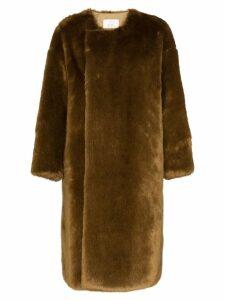 Hyke faux fur reversible coat - Brown