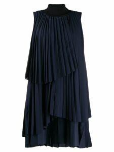 Fabiana Filippi pleated mini dress - Blue