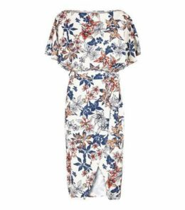 Missfiga Cream Floral Batwing Dress New Look