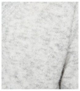 Pale Grey Knit V Neck Longline Jumper New Look
