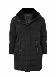 Black Quilted Coat, Black