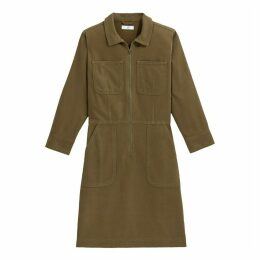Short Straight Long-Sleeved Dress