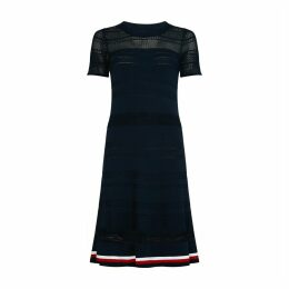 Short-Sleeved Openwork Dress