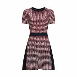 Flared Jacquard Dress