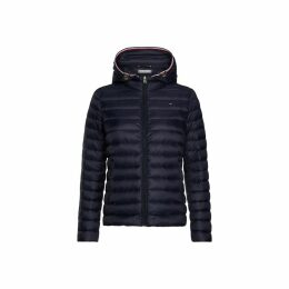 Short Padded Jacket with Detachable Hood
