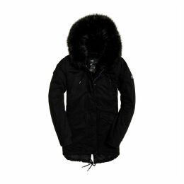 Mid-Length Falcon Parka with Faux Fur Hood