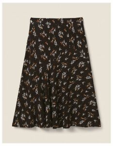 Fat Face Ellie Star Floral Midi Skirt