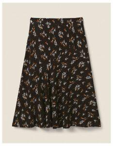 Fat Face Ellie Star Floral Midi Skirt