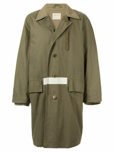 Helmut Lang Pre-Owned 1998 striped detail loose coat - Green